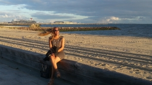 Image of myself at Port Melbourne Beach