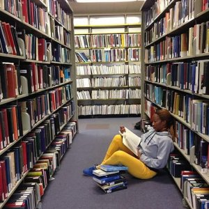 Image of Me Reading in the Library
