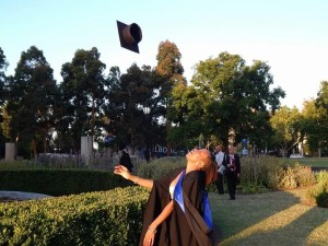 Image Me Tossing Graduation Hat