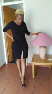 Image of myself wearing a nice black dress
