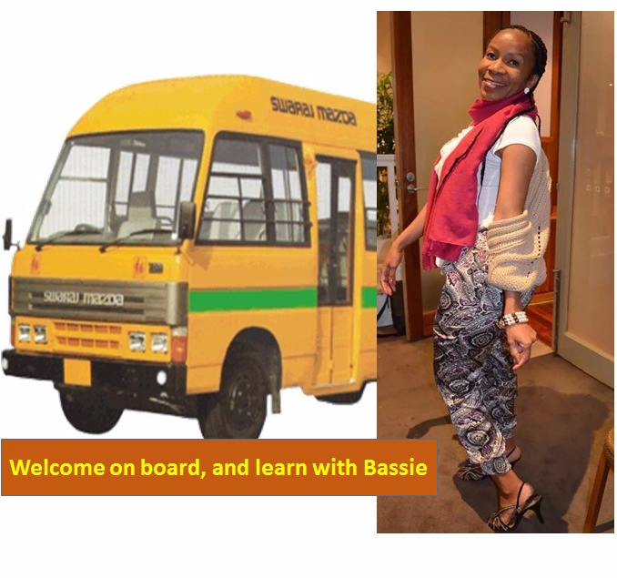 Image of myself welcoming passengers on board a bus